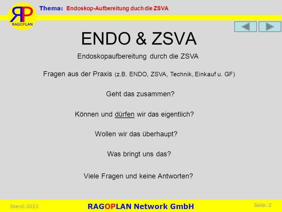 ENDO & ZSVA Geht das zusammen? Wollen wir das überhaupt? Was bringt uns das? Viele Fragen und keine Antworten? Können und dürfen wir das eigentlich? E
