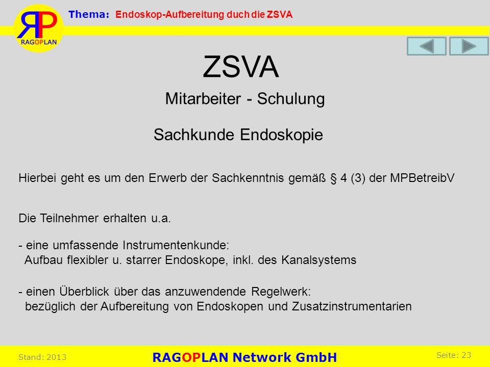 ZSVA - eine umfassende Instrumentenkunde: Aufbau flexibler u. starrer Endoskope, inkl. des Kanalsystems Mitarbeiter - Schulung Sachkunde Endoskopie Hi