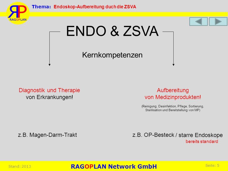 Kernkompetenzen Diagnostik und Therapie von Erkrankungen! Aufbereitung von Medizinprodukten! (Reinigung, Desinfektion, Pflege, Sortierung, Sterilisati