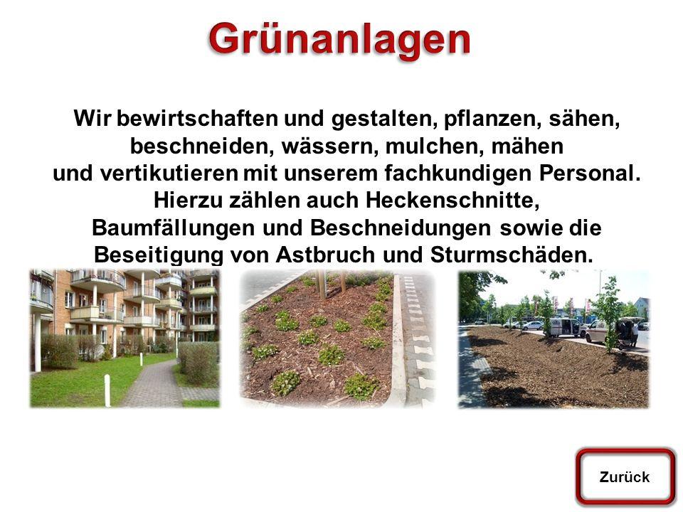 Startseite Pflaster und Fliesen Hinweis und Verkehrsschilder Grünanlagen Graffitibeseitigung