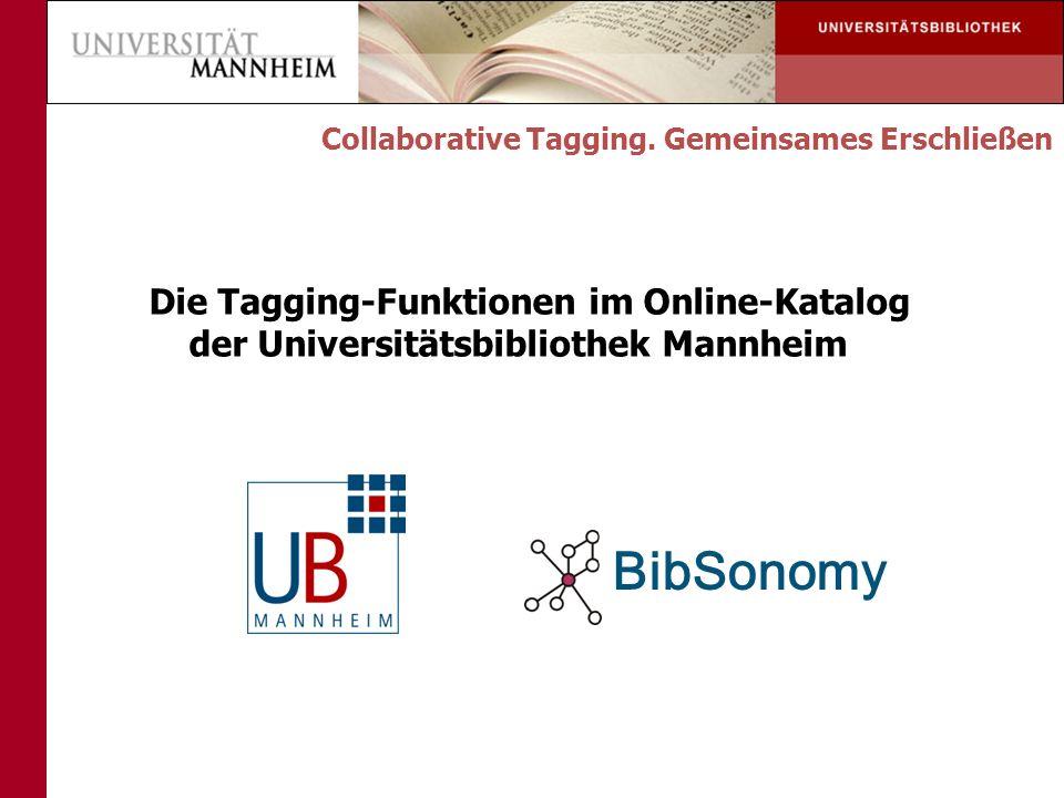 Tag-Cloud BibSonomy BibSonomy Export Collaborative Tagging. Gemeinsames Erschließen