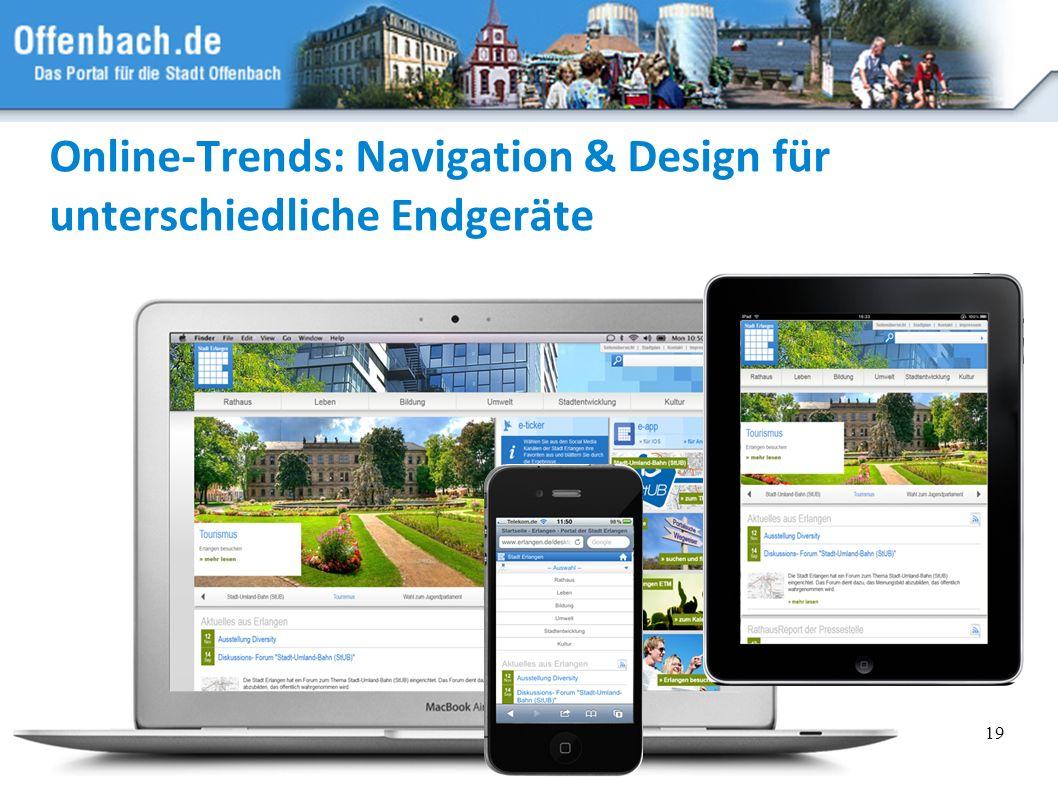 19 Online-Trends: Navigation & Design für unterschiedliche Endgeräte