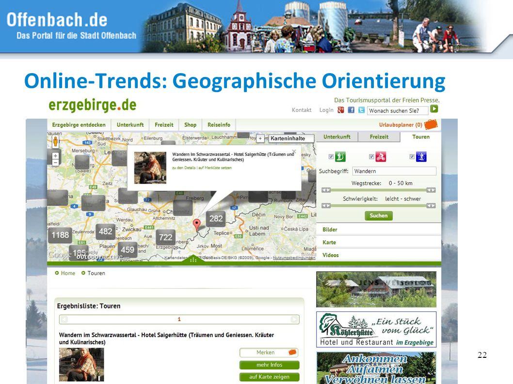 22 Online-Trends: Geographische Orientierung