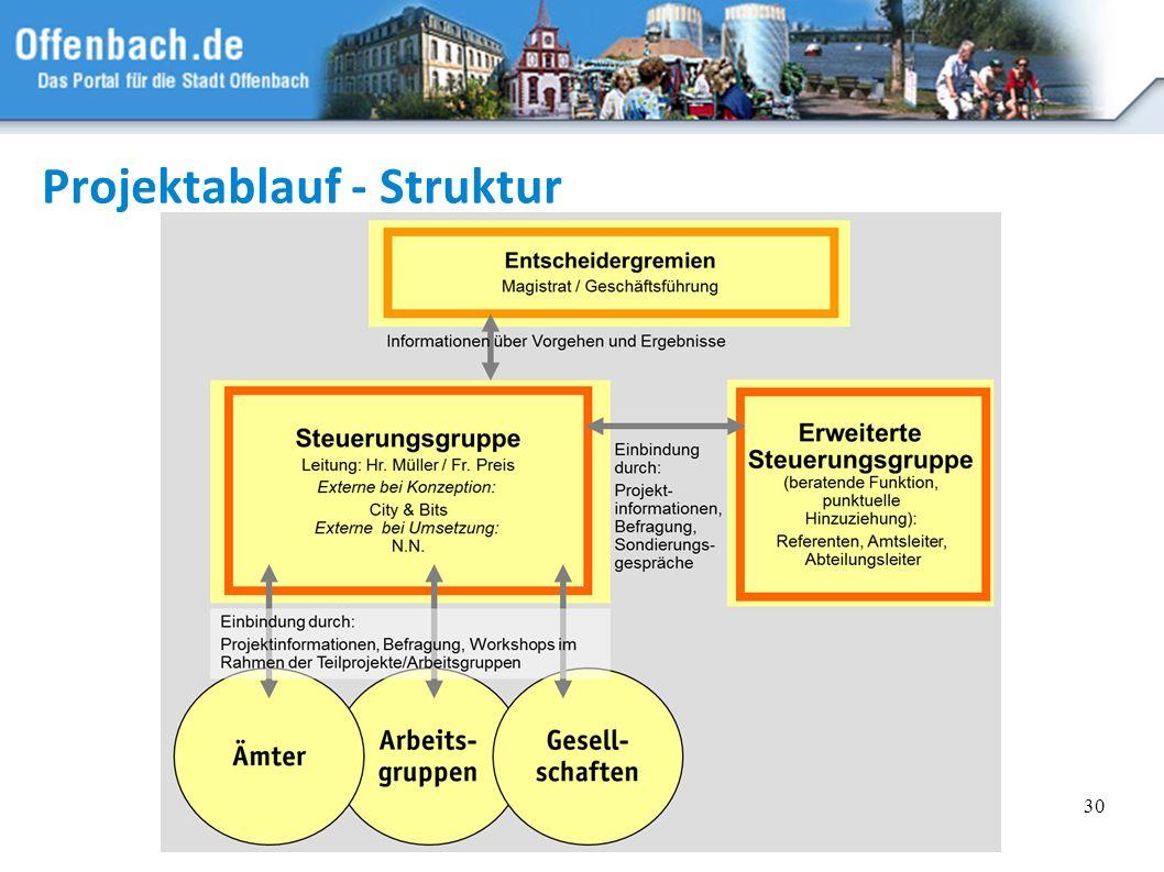 30 Projektablauf - Struktur