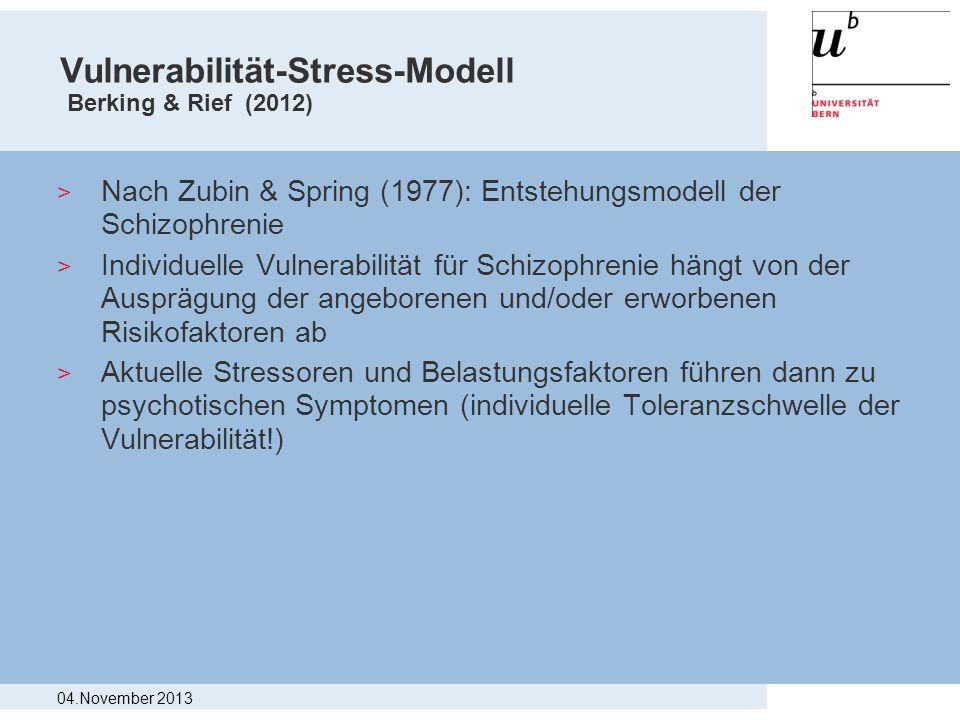 Vulnerabilität-Stress-Modell Berking & Rief (2012) > Nach Zubin & Spring (1977): Entstehungsmodell der Schizophrenie > Individuelle Vulnerabilität für