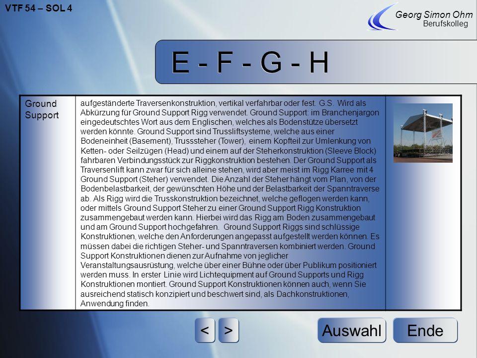 E - F - G - H Ende Georg Simon Ohm Berufskolleg <>Auswahl Gleichlast Gleichstreckenlast gleichmäßig verteilt einwirkende Last (siehe auch Lastarten)La