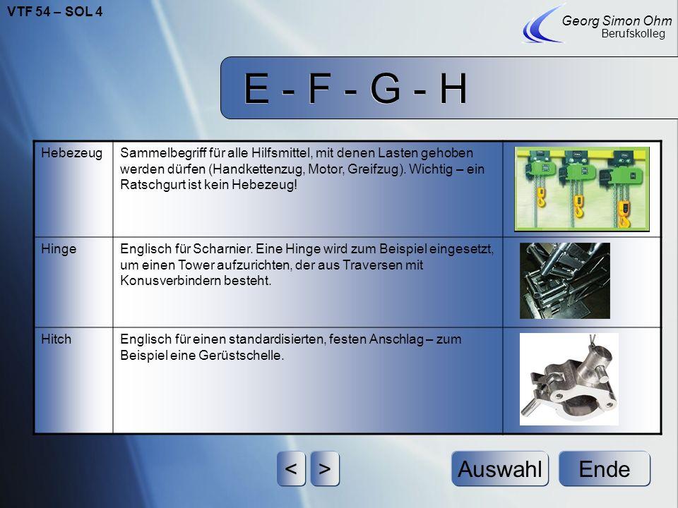 E - F - G - H Ende Georg Simon Ohm Berufskolleg <>Auswahl HandkettenzugHandbetriebenes Hebezeug, liebevoll auch Biomotor genannt. Ersetzt bei kleinere