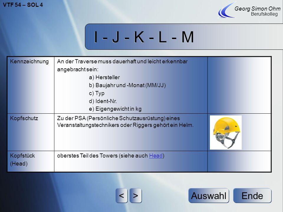 I - J - K - L - M Ende Georg Simon Ohm Berufskolleg <>Auswahl KettenzugIst ein Hebezeug bei dem eine Rundstahlkette als Tragmittel eingesetzt wird. Er