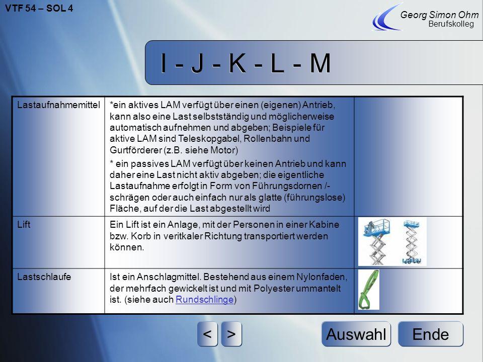 I - J - K - L - M Ende Georg Simon Ohm Berufskolleg <>Auswahl LastartenEs gibt verschiedene Lastarten, die unterscheiden sich darin wie und welche Las