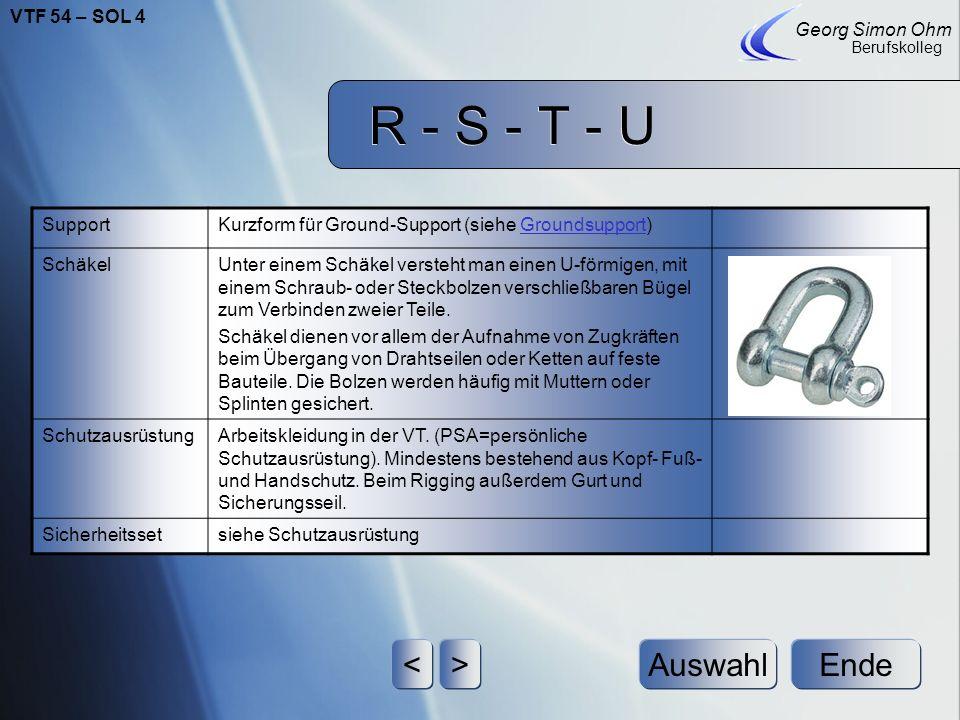 R - S - T - U Ende Georg Simon Ohm Berufskolleg <>Auswahl SafetySlang für: Sicherungsseil aus Stahl: bestehend aus 6 Stahlseilen aus jeweils 19 Litzen