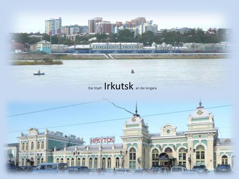 Der Jenissei bei Krasnojarsk mit einer Länge von 4092 km