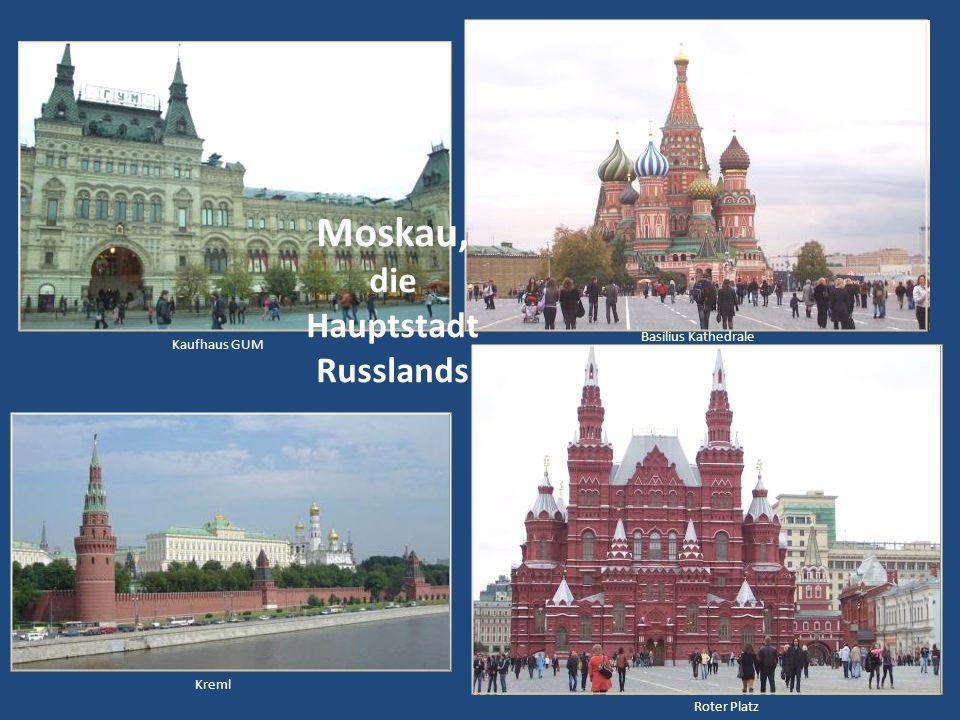 Die Transsibirischen Eisenbahn Moskau - Wladiwostok über 9288 km ist die längste Eisenbahnstrecke der Welt. 89 größere Städte, wie die bekannten Orte