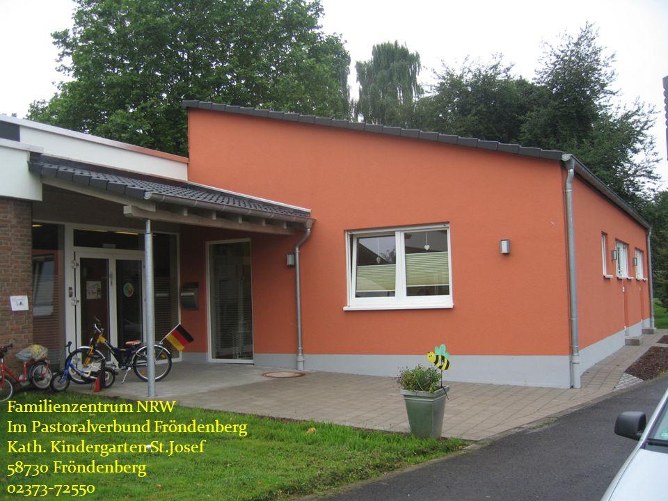 Einführung in das Projekt Partizipation der Kinder Familienzentrum NRW Im Pastoralverbund Fröndenberg Kath. Kindergarten St.Josef 58730 Fröndenberg 02