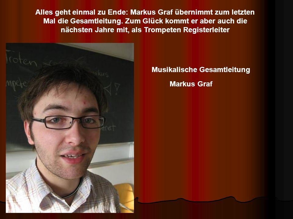 Alles geht einmal zu Ende: Markus Graf übernimmt zum letzten Mal die Gesamtleitung.