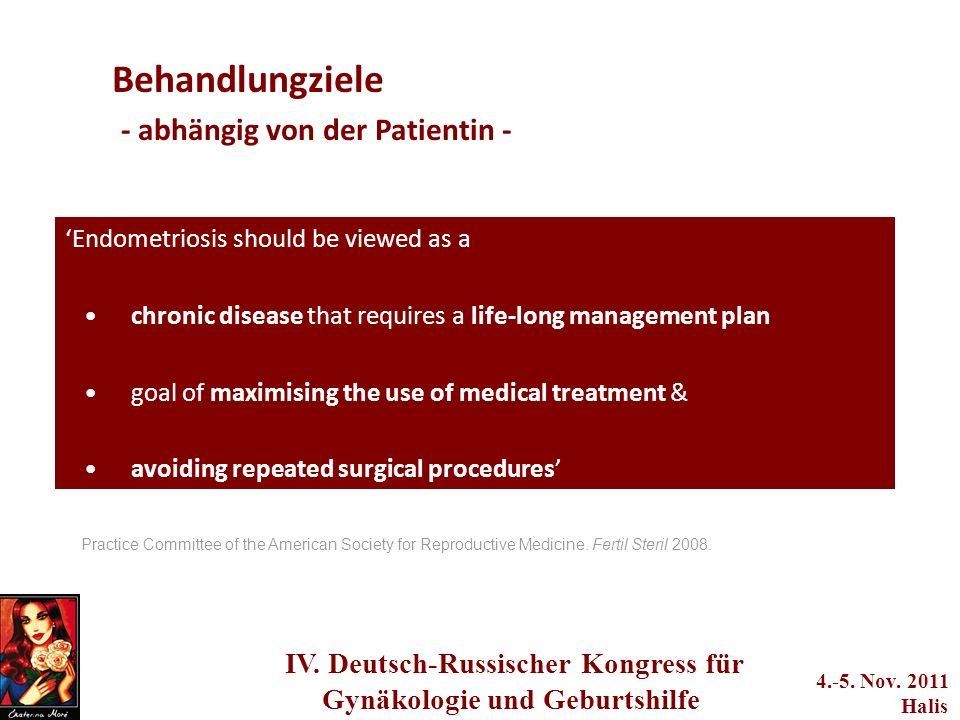 adwerwerwerwere q2we4234233 IV. Deutsch-Russischer Kongress für Gynäkologie und Geburtshilfe 4.-5. Nov. 2011 Halis Endometriosis should be viewed as a