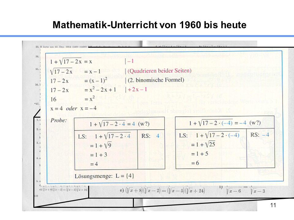 11 Mathematik-Unterricht von 1960 bis heute