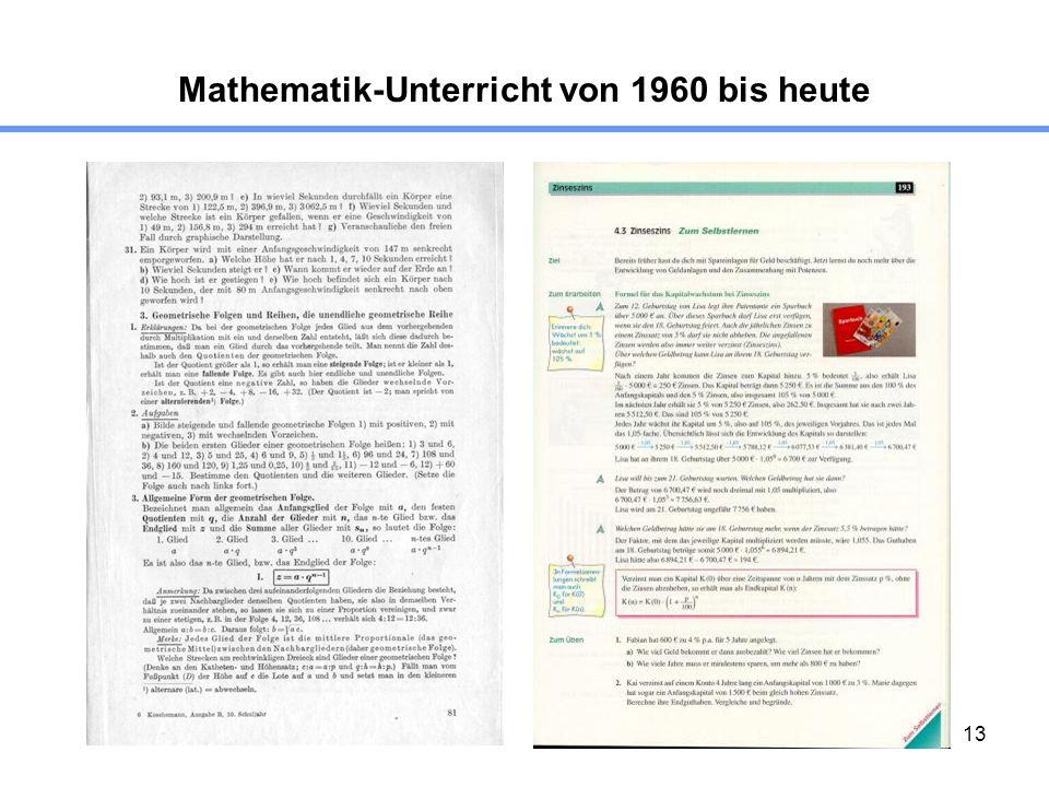 13 Mathematik-Unterricht von 1960 bis heute