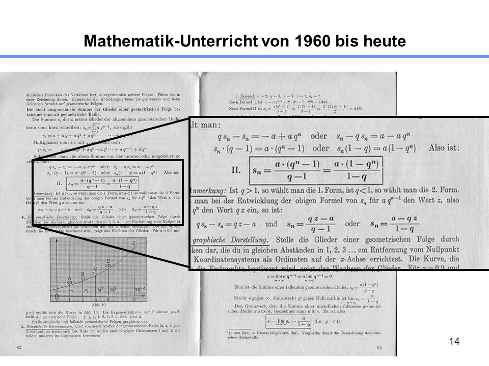 14 Mathematik-Unterricht von 1960 bis heute