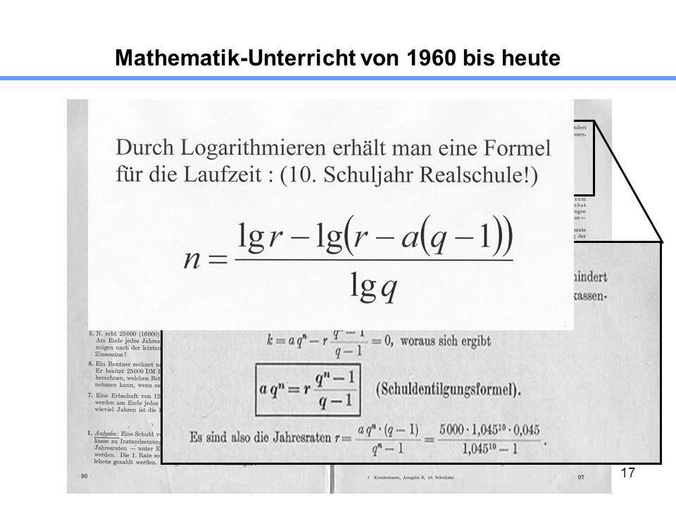17 Mathematik-Unterricht von 1960 bis heute