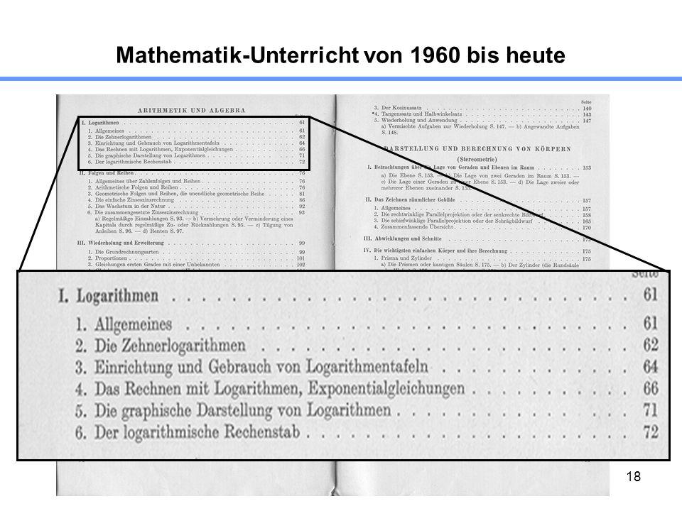 18 Mathematik-Unterricht von 1960 bis heute