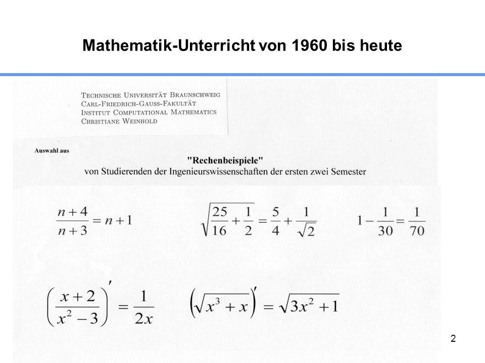 2 Mathematik-Unterricht von 1960 bis heute