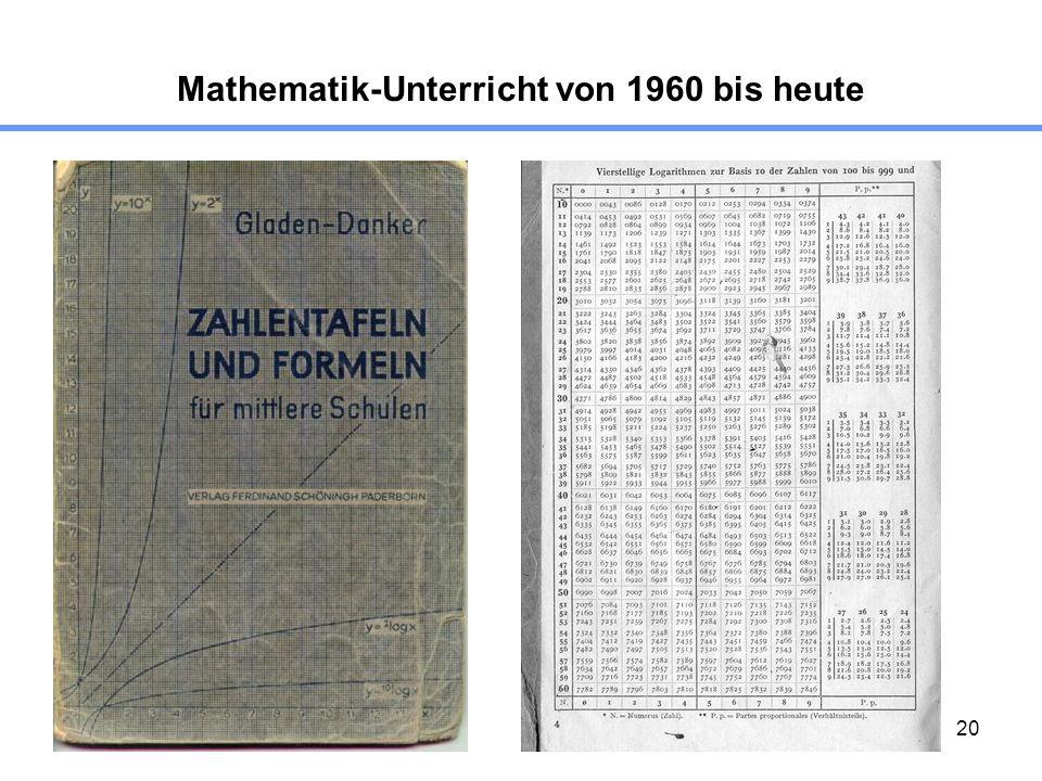 20 Mathematik-Unterricht von 1960 bis heute