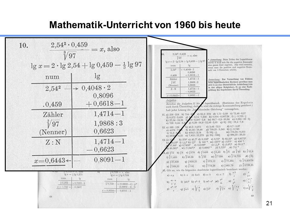 21 Mathematik-Unterricht von 1960 bis heute