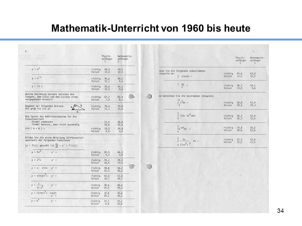 34 Mathematik-Unterricht von 1960 bis heute