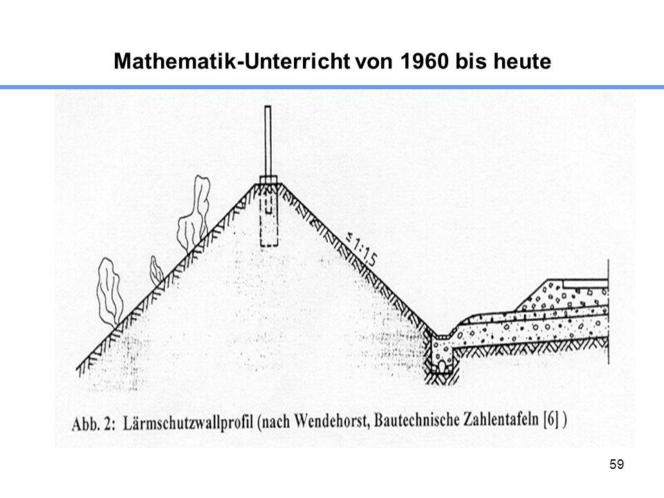 59 Mathematik-Unterricht von 1960 bis heute