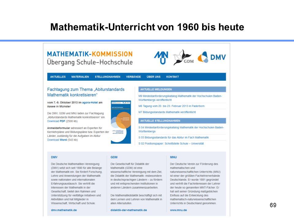 69 Mathematik-Unterricht von 1960 bis heute