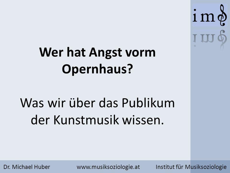 Das Publikum der Kunstmusik in Österreich Dr.