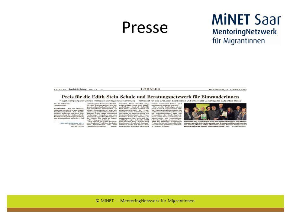 Presse © MiNET MentoringNetzwerk für Migrantinnen