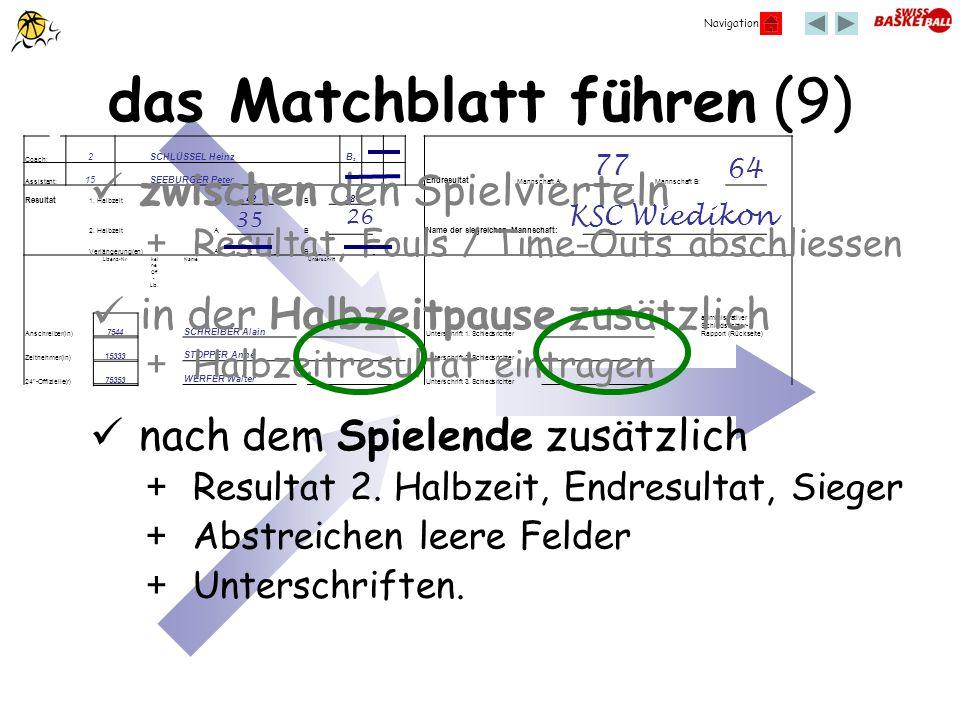 Navigation Coach: 2 SCHLÜSSEL Heinz B2B2 Assistant: 15 SEEBURGER Peter Endresultat Mannschaft A: Mannschaft B: Resultat 1. HalbzeitA 42 B 38 2. Halbze