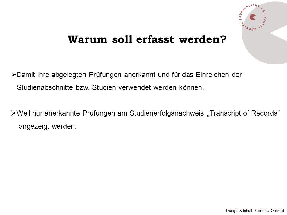 Erfassung einer Lehrveranstaltung, die an der Pädagogischen Hochschule Kärnten abgelegt wurde: Mit Klick auf Neue Position öffnet sich ein Fenster: Neue Bescheidposition anlegen.
