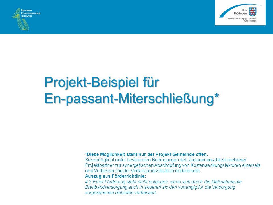 Projekt-Beispiel für En-passant-Miterschließung* *Diese Möglichkeit steht nur der Projekt-Gemeinde offen.