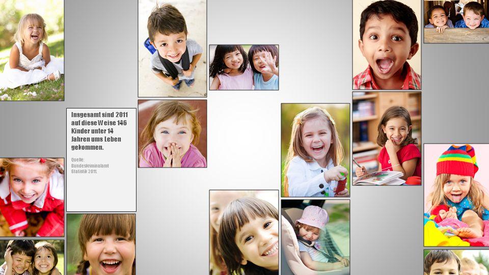 Insgesamt sind 2011 auf diese Weise 146 Kinder unter 14 Jahren ums Leben gekommen.