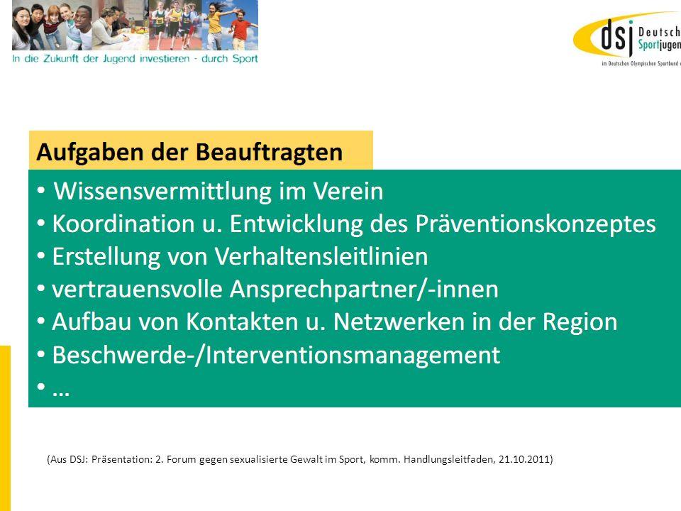19.01.2012 DSB B+W SH14 (Aus DSJ: Präsentation: 2. Forum gegen sexualisierte Gewalt im Sport, komm. Handlungsleitfaden, 21.10.2011)