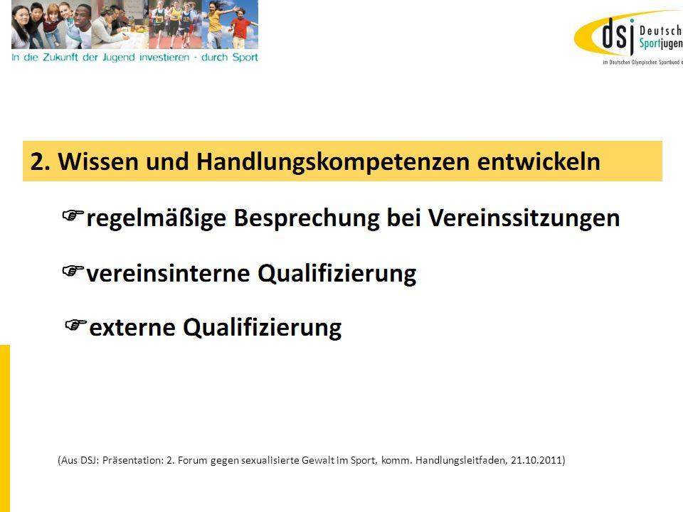 19.01.2012 DSB B+W SH15 (Aus DSJ: Präsentation: 2. Forum gegen sexualisierte Gewalt im Sport, komm. Handlungsleitfaden, 21.10.2011)