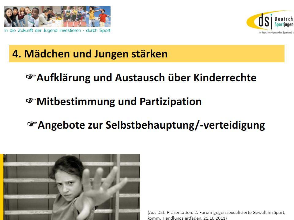 19.01.2012 DSB B+W SH18 (Aus DSJ: Präsentation: 2. Forum gegen sexualisierte Gewalt im Sport, komm. Handlungsleitfaden, 21.10.2011)