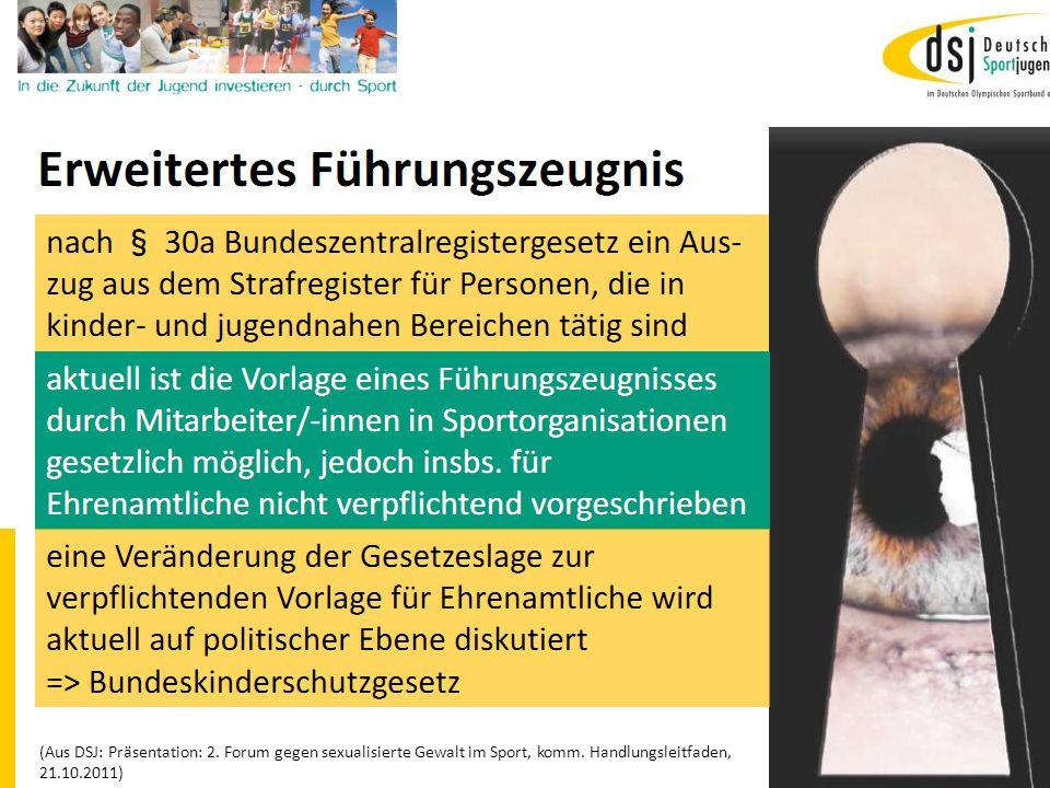 19.01.2012 DSB B+W SH20 (Aus DSJ: Präsentation: 2. Forum gegen sexualisierte Gewalt im Sport, komm. Handlungsleitfaden, 21.10.2011)
