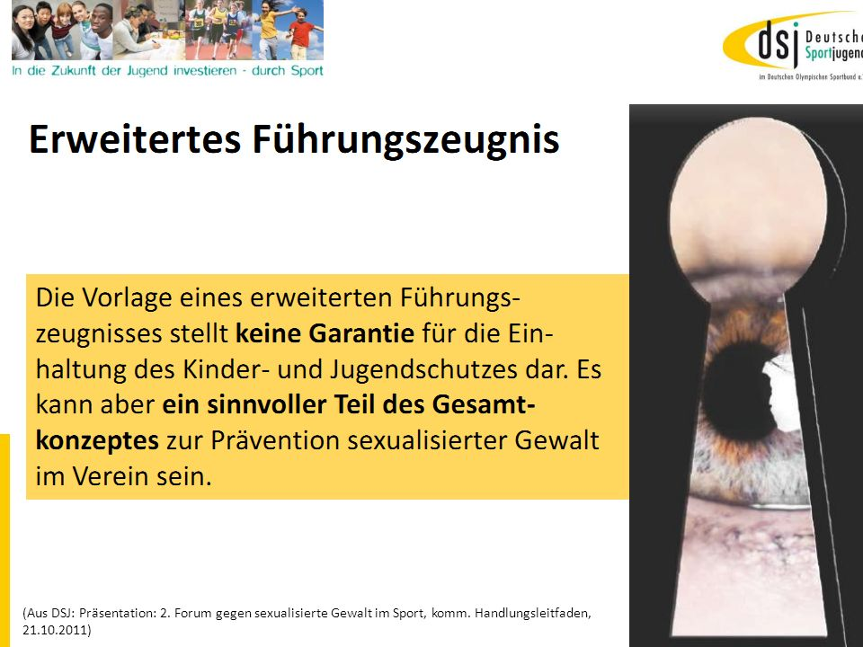 19.01.2012 DSB B+W SH21 (Aus DSJ: Präsentation: 2. Forum gegen sexualisierte Gewalt im Sport, komm. Handlungsleitfaden, 21.10.2011)