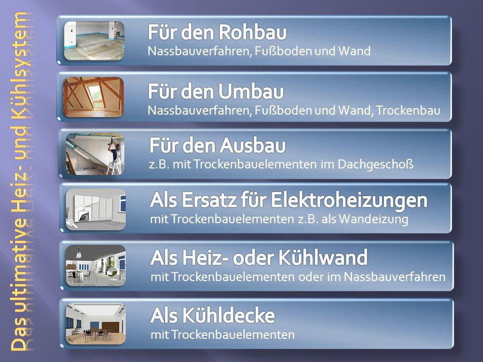 Die Anwendung im Dachgeschoßausbau (Montagebilder) Links: Gut zu erkennen, die eingebettete Registermatte.