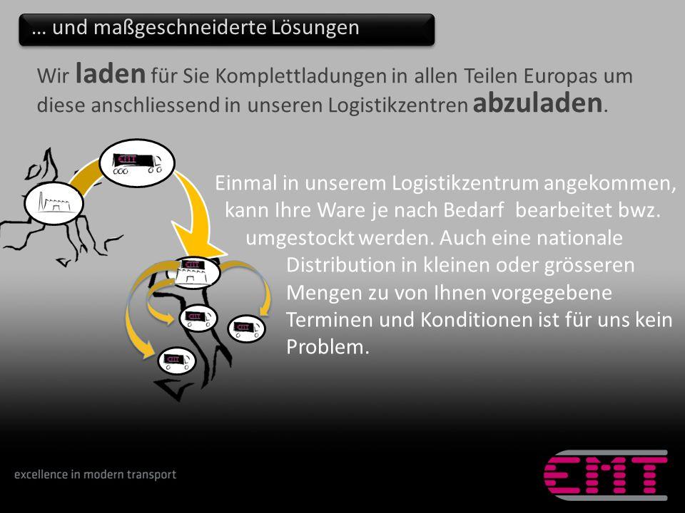 Wir laden für Sie Komplettladungen in allen Teilen Europas um diese anschliessend in unseren Logistikzentren abzuladen.