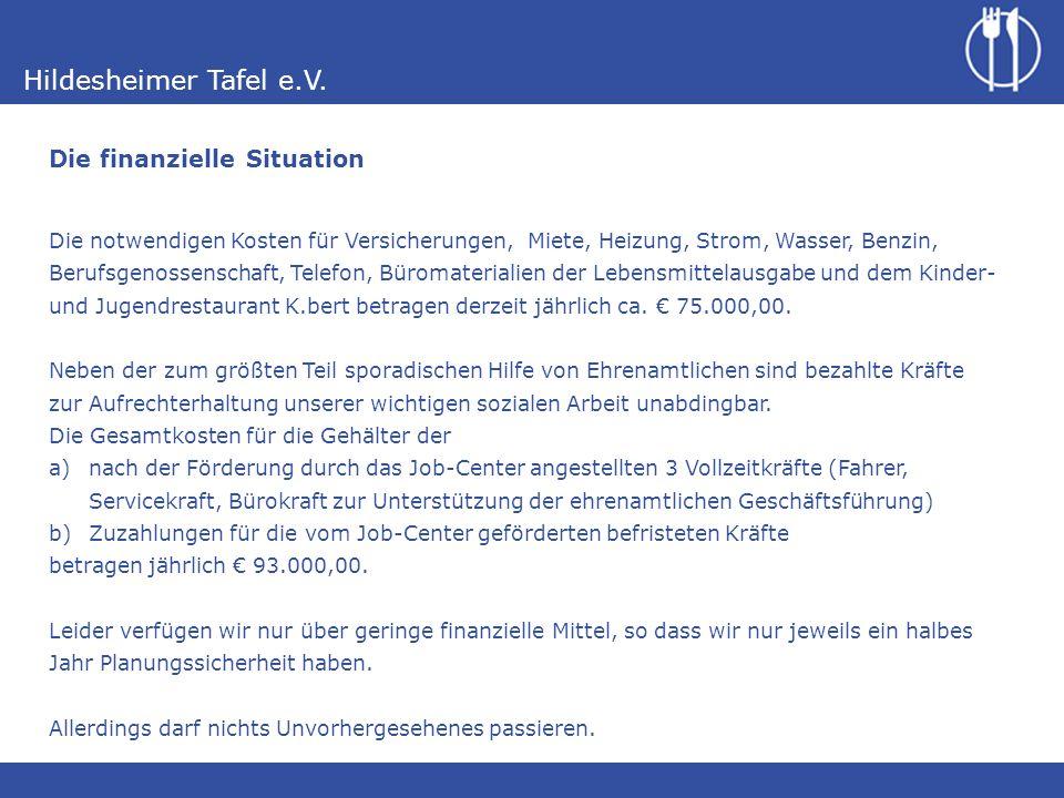 Hildesheimer Tafel e.V.15Ehrenamtliche (zzgl.