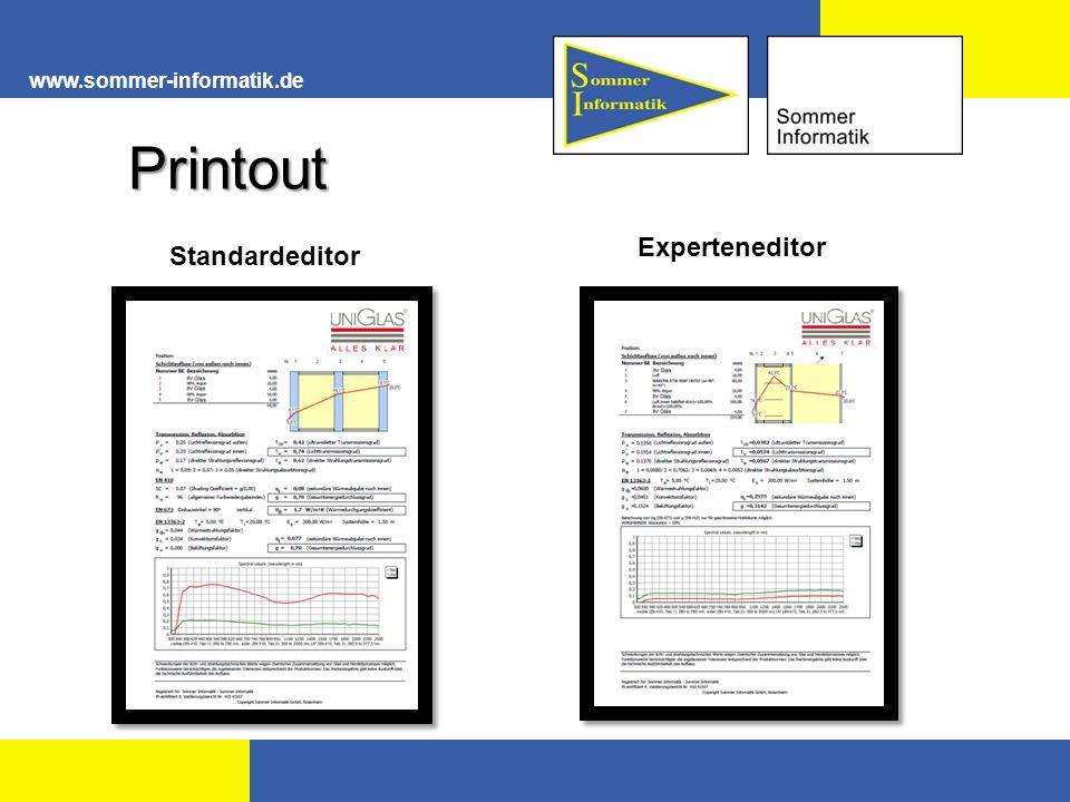www.sommer-informatik.de Printout Standardeditor Experteneditor