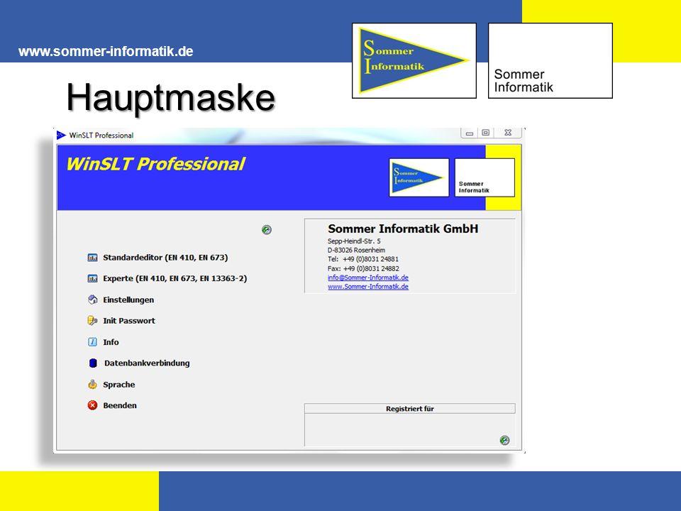 www.sommer-informatik.de Über den benutzerdefinierten Import können eigens von Ihnen erstellt und gesammelte Daten hinzugefügt werden.