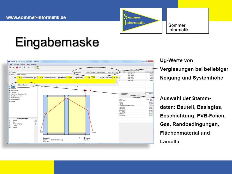 www.sommer-informatik.de Das Lichtspektrum Für den Menschen sichtbar tau -> Transmission rho -> Reflexion