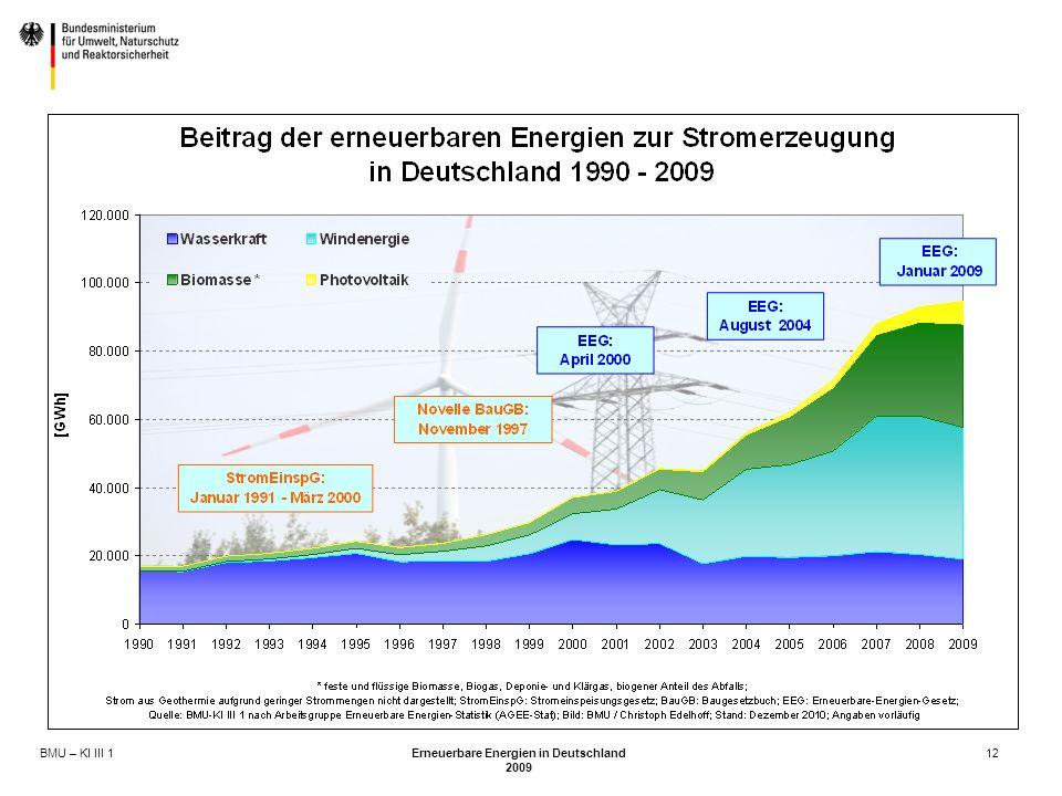 BMU – KI III 1 Erneuerbare Energien in Deutschland 2009 12