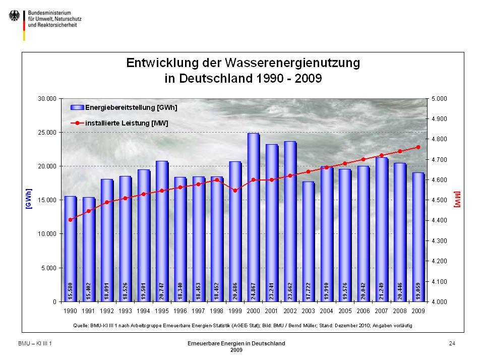 BMU – KI III 1 Erneuerbare Energien in Deutschland 2009 24