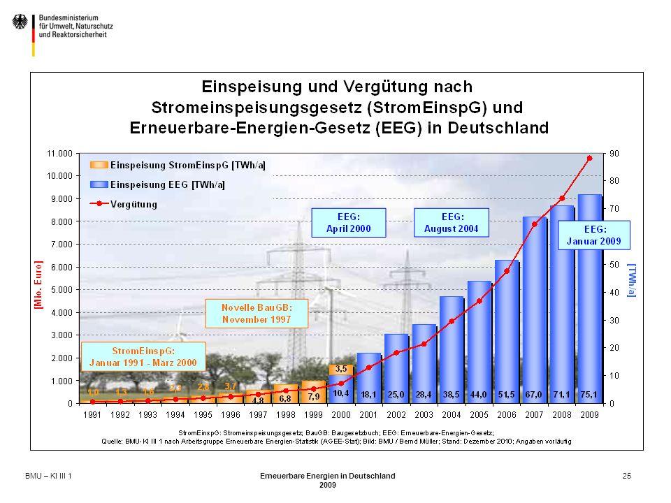 BMU – KI III 1 Erneuerbare Energien in Deutschland 2009 25
